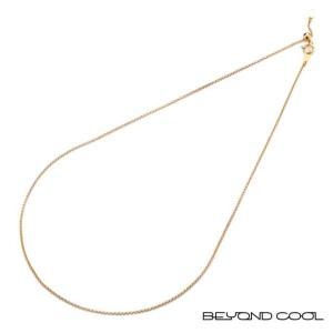BeyondCool ビヨンクール オリジナル K18 ネックレスチェーン 45cm(あずきコブラ/スライド式アジャスター)|beyondcool