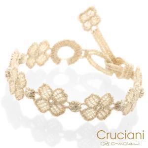 Cruciani クルチアーニ クルチアーニ C  アンクレット/ブレスレット クローバー アイボリー|beyondcool