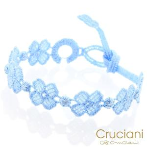 Cruciani クルチアーニ クルチアーニ C  アンクレット/ブレスレット クローバー セレステ|beyondcool