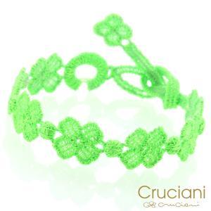 Cruciani クルチアーニ クルチアーニ C  アンクレット/ブレスレット クローバー ネオングリーン|beyondcool