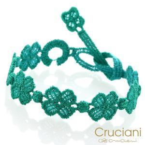 Cruciani クルチアーニ クルチアーニ C  アンクレット/ブレスレット クローバー コバルトグリーン|beyondcool