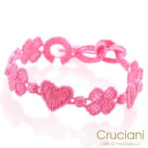 Cruciani クルチアーニ クルチアーニ C  アンクレット/ブレスレット ハート&クローバー ベビーローズ|beyondcool