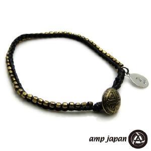 amp japan アンプジャパン シードビーズ シングル ブレスレット ブラック|beyondcool