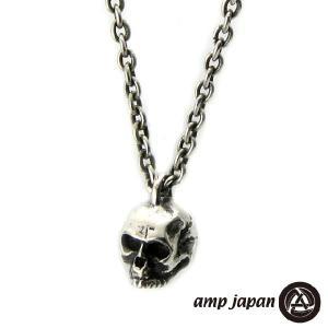 amp japan アンプジャパン スカル ネックレス シルバー|beyondcool