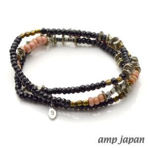 ナオト・インティライミさん着用 アンプジャパン amp japan ナイトブラック ブレスレット メンズ レディース アクセ|beyondcool