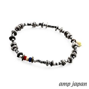 amp japan アンプジャパン トリコロールインシードビーズブレスレット|beyondcool