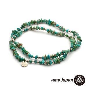 amp japan アンプジャパン タンブルターコイズ ブレスレット トリプル|beyondcool
