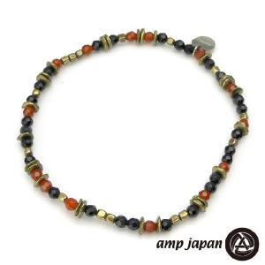 amp japan アンプジャパン レッドアゲート&オニキスアンクレット beyondcool