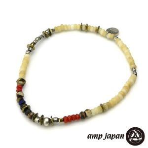 amp japan アンプジャパン マットホワイトコーラルアンクレット beyondcool