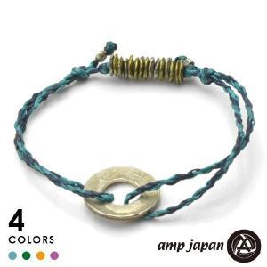 amp japan アンプジャパン 10セントワックスコードアンクレット/ブラスビーズ beyondcool