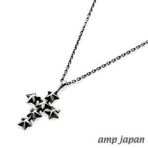 amp japan アンプジャパン スタースタッズスモールクロスネックレス|beyondcool