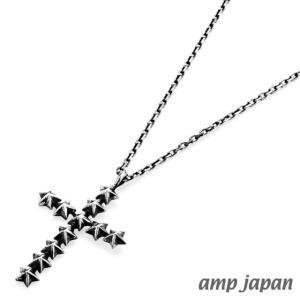 amp japan アンプジャパン スタースタッズラージクロスネックレス|beyondcool