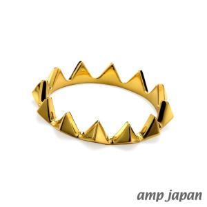 amp japan アンプジャパン トライアングルスパイクリング - ゴールド|beyondcool