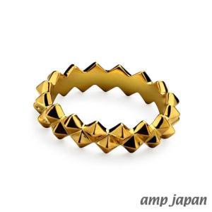 amp japan アンプジャパン スクエアスパイクリング - ゴールド|beyondcool