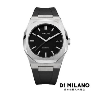 D1ミラノ 時計 メンズ D1 MILANO P701 Automatic Watch Silver Case with Black Strap beyondcool