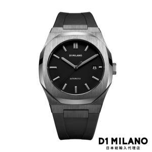 D1ミラノ 時計 メンズ D1 MILANO P701 Automatic Watch IP Gun Case with Black Strap beyondcool