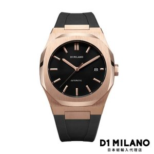 D1ミラノ 時計 メンズ D1 MILANO P701 Automatic Watch Rose Gold Case with Black Strap beyondcool