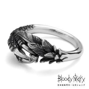 ブラッディマリー【Bloody Mary】 ブラックバード リング w / ダイヤモンド - 爪 羽...