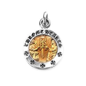 Chrome Hearts クロムハーツ エンジェルメダルチャーム V2 シルバー/ゴールド|beyondcool|02