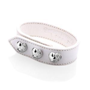 Chrome Hearts クロムハーツ 3ボタン2スナップブレスレット ハート ホワイト|beyondcool
