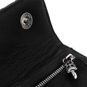 Chrome Hearts クロムハーツ ウェイブウォレット #4 キルテッドレザー w/ハートボタン ブラック beyondcool 05