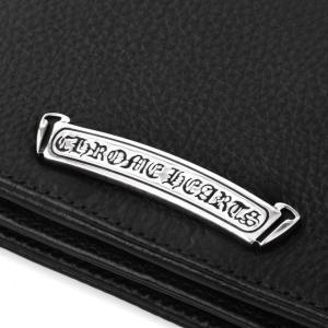 Chrome Hearts クロムハーツ シングルフォールドロングウォレット チップス ブラック|beyondcool|09