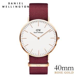 ダニエルウェリントン Daniel Wellington  クラシックロゼリン ローズゴールド/ホワイト 40mm|beyondcool
