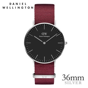 ダニエルウェリントン Daniel Wellington  クラシックロゼリン シルバー/ブラック 36mm|beyondcool
