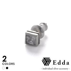 Edda エッダ スクエアピアス EE-010-U-B EE-010-U-W|beyondcool