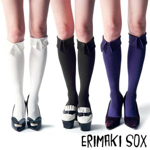 ERIMAKI SOX エリマキソックス ソリッドカラー ハイソックス 全3色 beyondcool