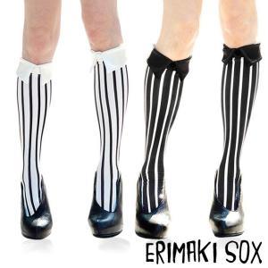 ERIMAKI SOX エリマキソックス Stripe bias ストライプ バイアス ハイソックス 全2色 beyondcool