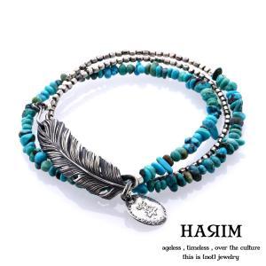 HARIM ハリム フェザー&ターコイズ ブレスレット HARIM SP 1|beyondcool
