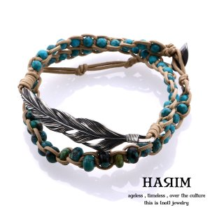 HARIM ハリム フェザー&ターコイズ ブレスレット HARIM SP 2|beyondcool