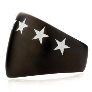 IVXLCDM アイブイエックスエルシーディーエム BIG SEVEN STAR RING MATTE BLACK / WHITE beyondcool 03
