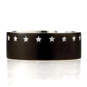 IVXLCDM アイブイエックスエルシーディーエム THIRTEEN STAR RING MATTE BLACK / WHITE|beyondcool|02