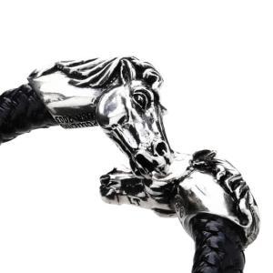 レザーズアンドトレジャーズ ホースレザーバングル ブラック [REBORN]|beyondcool|05