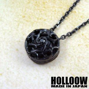 HOLLOOW トライバルリリー ペンダント/ブラック|beyondcool