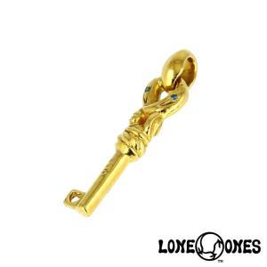 LONE ONES ロンワンズ K22 クレーンキーペンダント XS w/シルクリンク/ブルーダイヤモンド|beyondcool