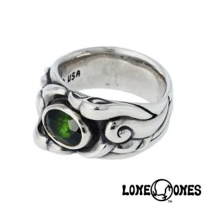 LONE ONES ロンワンズ サイドバイサイドリング w/グリーントルマリン|beyondcool