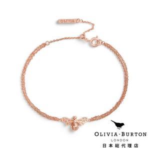 【Olivia Burton オリビア・バートン 日本公式】スパークル ビー ブレスレット ローズゴールド - レディース アクセサリー|beyondcool