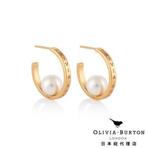【Olivia Burton オリビア・バートン 日本公式】クラシックス パールフープ イエローゴールド - レディース ピアス|beyondcool