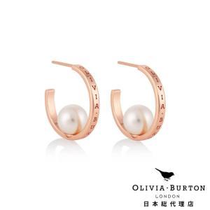【Olivia Burton オリビア・バートン 日本公式】クラシックス パールフープ ローズゴールド - レディース ピアス|beyondcool
