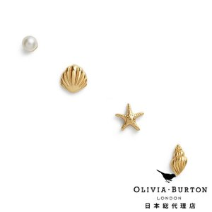 【Olivia Burton オリビア・バートン 日本公式】アンダーザシー スタッド ピアス イエローゴールド - レディース アクセサリー|beyondcool