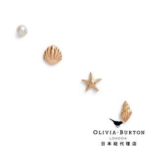 【Olivia Burton オリビア・バートン 日本公式】アンダーザシー スタッド ピアス ローズゴールド - レディース アクセサリー|beyondcool