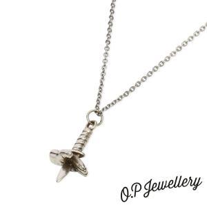 O.P Jewellery オーピージュエリー ナイフ&ハンドペンダント シルバー|beyondcool
