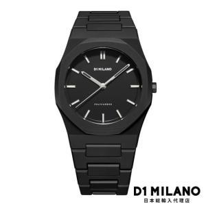 D1ミラノ 日本総輸入代理店 腕時計 メンズ 時計 D1 MILANO D1ミラノ New Polycarbon Black Case with Bracelet|beyondcool