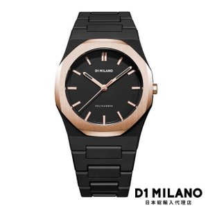 D1ミラノ 日本総輸入代理店 腕時計 メンズ 時計 D1 MILANO D1ミラノ New Polycarbon Rose Gold Case with Bracelet|beyondcool