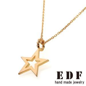 EDF イーディーエフ Frame Star フレーム スター ペンダント ゴールド|beyondcool