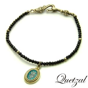 quetzal ケツァール Lilly Beads Bracelet Silver ver リリービーズブレスレット シルバー|beyondcool