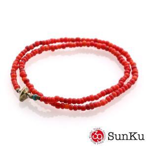 SunKu サンク ホワイトハート ビーズ アンクレット&ネックレス beyondcool